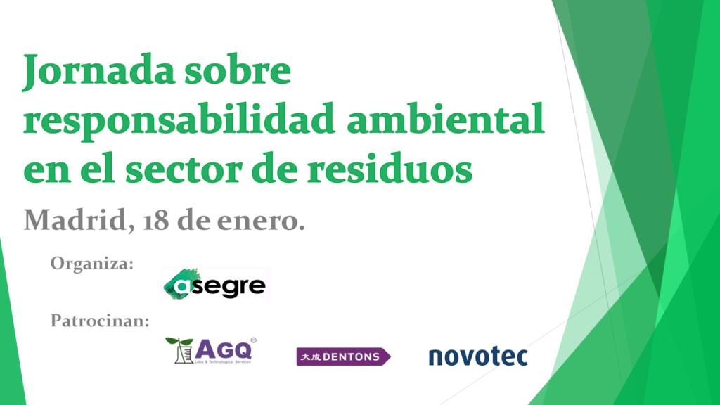 Jornada sobre responsabilidad ambiental en el sector de residuos